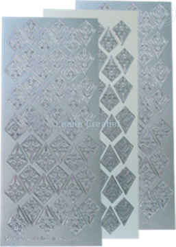 Image de LeCreaDesign® Sticker de rosettes argent