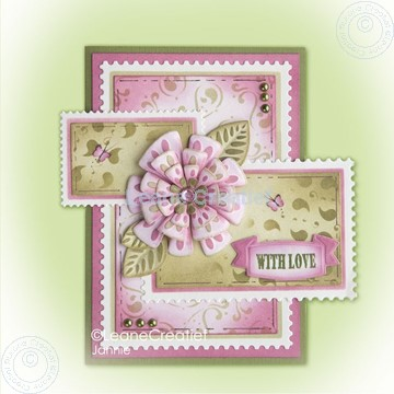 Image de Fantasy paper flower on frame pink