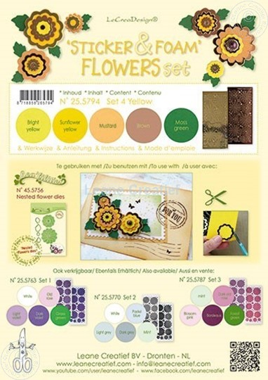 Image sur Sticker &  Foam de fleurs assortiment  4 Jaun