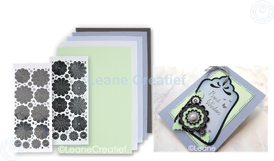 Image sur Sticker &  Foam de fleurs assortiment  2 gris