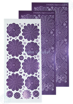 Afbeeldingen van Nested Flower Sticker mirror violet