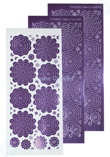 Afbeelding van Nested Flower Sticker mirror violet