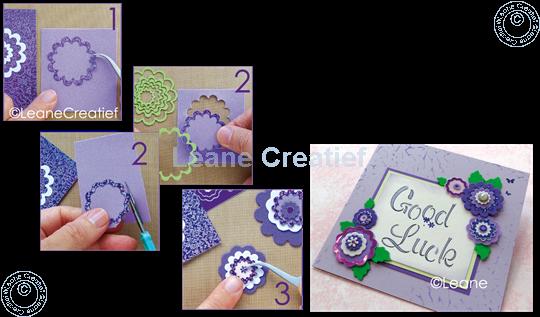 Afbeelding van Nested Flower Sticker diamond purple