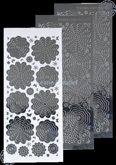 Image sur Stickers des  fleurs mirror silver