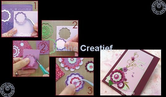 Afbeelding van Nested Flower Sticker diamond pink