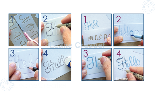 Picture of 2 Templates for Handlettering Alphabet style 1, Upper case+ Lower case+Numbers