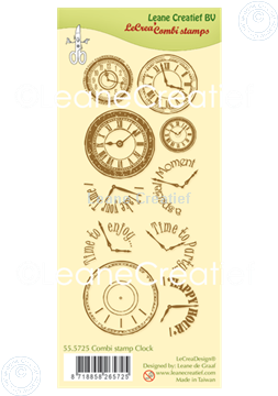 Picture of Combi clear stamp Clock