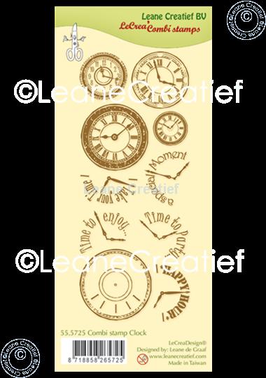 Afbeelding van Combi clear stamp Clock