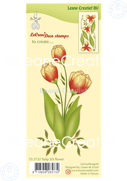 Picture of Clear stamp 3D flower Tulip