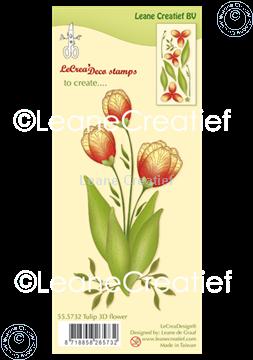 Image de Tampon clair 3D Fleur Tulipe