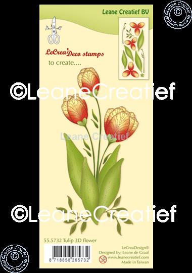 Image sur Tampon clair 3D Fleur Tulipe