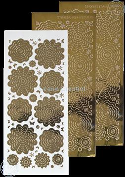 Afbeeldingen van Nested Flower Sticker mirror gold