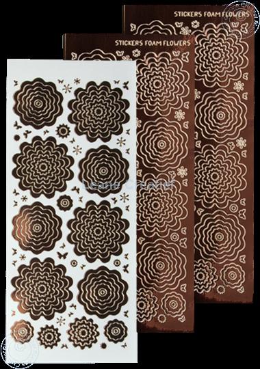 Afbeelding van Nested Flower Sticker mirror brown