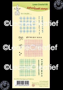 Afbeeldingen van LeCreaDesign® clear stamp Stof - Textiel achtergrond