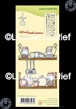 Afbeeldingen van LeCreaDesign® combi clear stamp Koffie servies
