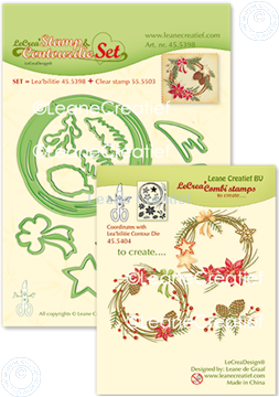 Image de Set Stamp & Contour Die Wreath X-mas
