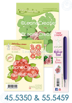 Bild von Set Multi die & Clearstamp Rose & Roll-up tool