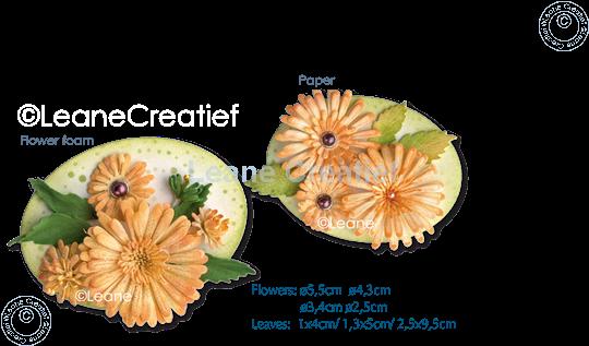 Bild von Multi die & Clear Stamp Chrysanthemum & Roll-up tool