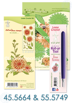 Bild von Multi die & Clear Stamp Chrysanthemum & Roll-up tool