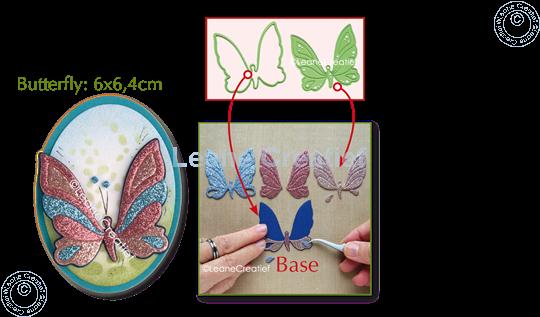 Image sur Lea'bilitie® Patch die Papillon matrice pour découper & embossing