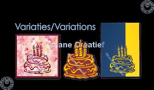 Afbeelding van Silhouette Verjaardags taart snijmal