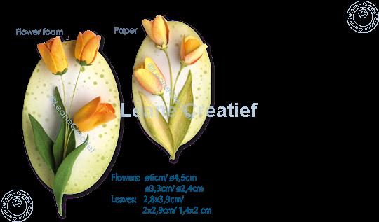 Afbeelding van Multi die Flower 017 Tulp 3D snij- en embossing mal