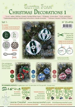Picture of Glitter Foam Christmas Decorations Set 1