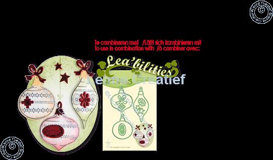 Image sur LeCreaDesign® combi tampon clair Ornements de Noël