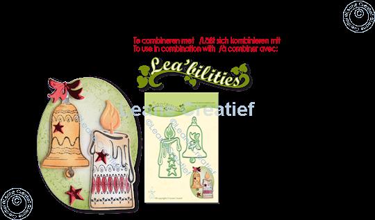 Image sur LeCreaDesign® combi tampon clair Boule de Noël & Chandelier