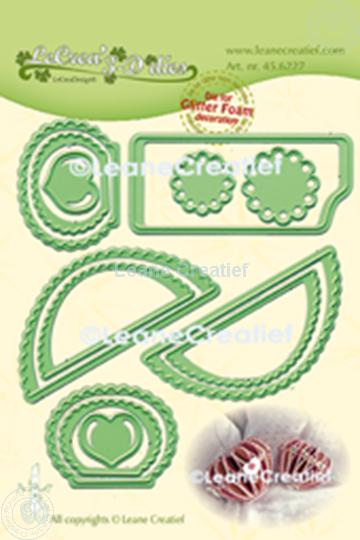 Image sur Lea'bilitie® Glitter Foam décoration Cœur bord festonné matrice pour découper