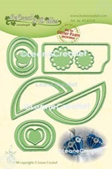 Image sur Lea'bilitie® Glitter Foam décoration Cœur bord lisse matrice pour découper