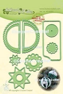 Afbeeldingen van Lea'bilitie® Glitter Foam decoratie bal  gekartelde rand snijmal