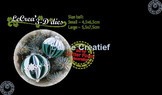 Image sur Lea'bilitie® Glitter Foam décoration Boule bord festonné matrice pour découper