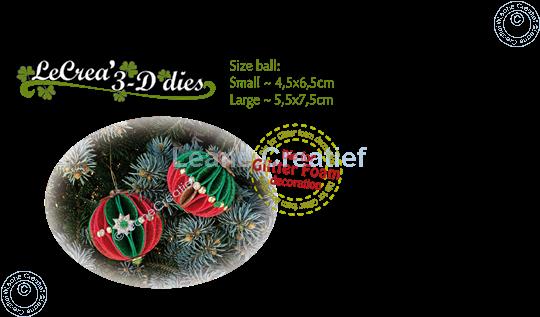Image sur Lea'bilitie® Glitter Foam décoration Boule bord lisse matrice pour découper