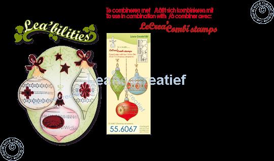 Image sur Lea'bilitie® Ornements de Noël matrice pour découper & gaufrage