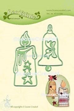 Image de Lea'bilitie® Chandelle & Cloche de Noël matrice pour découper & gaufrage