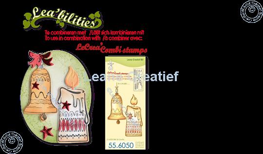 Image sur Lea'bilitie® Chandelle & Cloche de Noël matrice pour découper & gaufrage