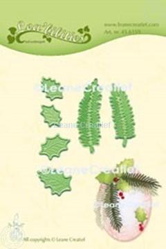 Image de Lea'bilitie® Houx & branche de sapin matrice pour découper & gaufrage