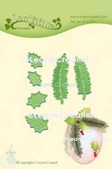 Image sur Lea'bilitie® Houx & branche de sapin matrice pour découper & gaufrage