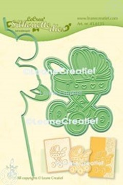 Picture of Lea'bilitie® Baby carriage silhouette cut and embossing die