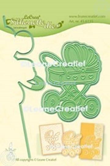 Image sur Lea'bilitie® Poussette silhouette matrice pour découper & gaufrage