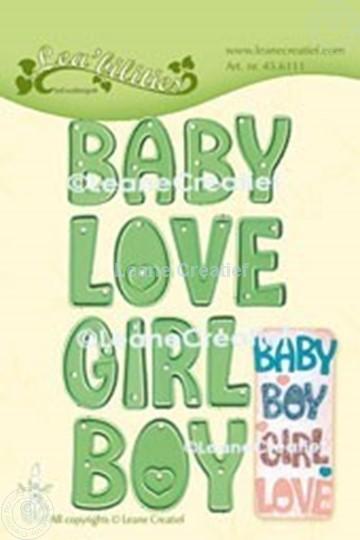 Image sur Lea'bilitie® Mots:  Baby, Boy, Girl, Love matrice pour découper