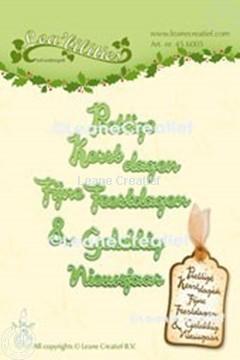 Bild von Lea'bilitie® Niederländische Texte Weihachten & Neujahr Schneideschablone
