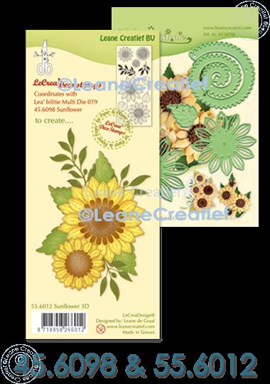 Bild von Multi die & Clear Stamp Sonneblume 3D