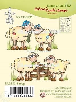 Image de LeCreaDesign® combi tampon clair Moutons