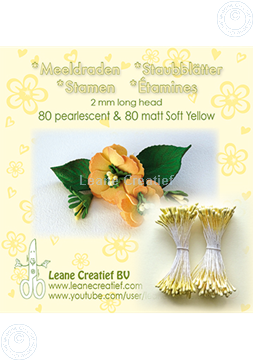 Afbeeldingen van Meeldraden 2mm,  80 matt & 80 pearl Soft yellow