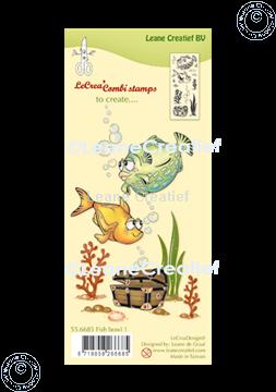 Image de LeCreaDesign® combi tampon clair Poissons 1.