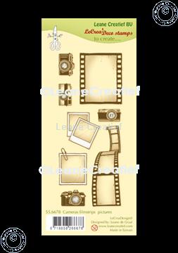 Image de LeCreaDesign® deco tampon clair Caméras, bande de film & photos