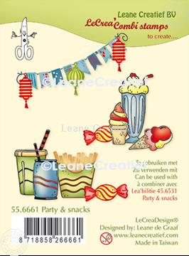 Bild von LeCreaDesign® Kombi Silikon Stempel  Party & Snacks