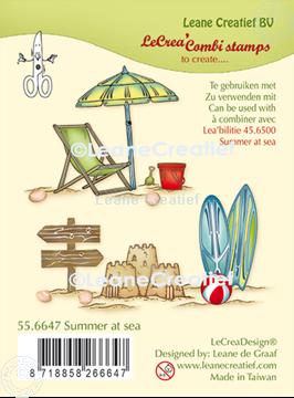 Afbeeldingen van LeCreaDesign® combi clear stamp Zomer aan zee